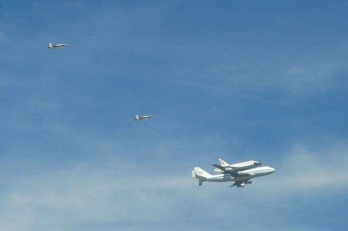 Endeavour Over Venice Beach