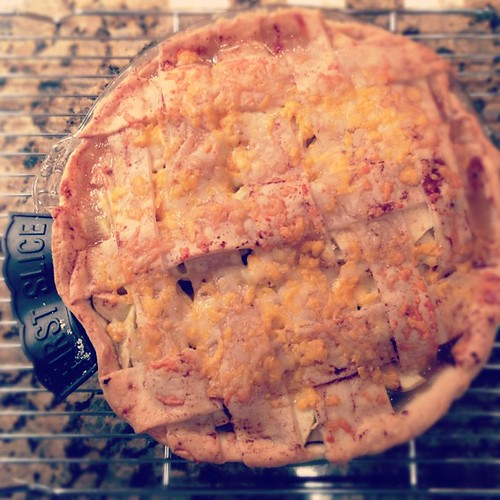 Always wanted to make one since pushing daisies :) gruyere, Vermont cheddar, apple pie!