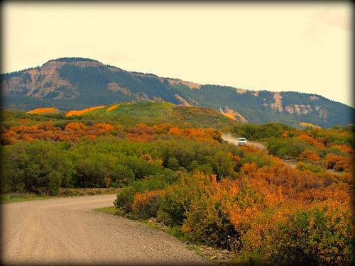 autumn rural colorado stormking gravelroad montrosecolorado brushoak cimarronrange