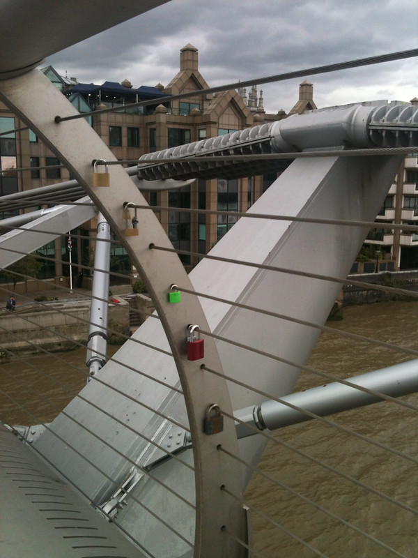 Millennium bridge and padlocks