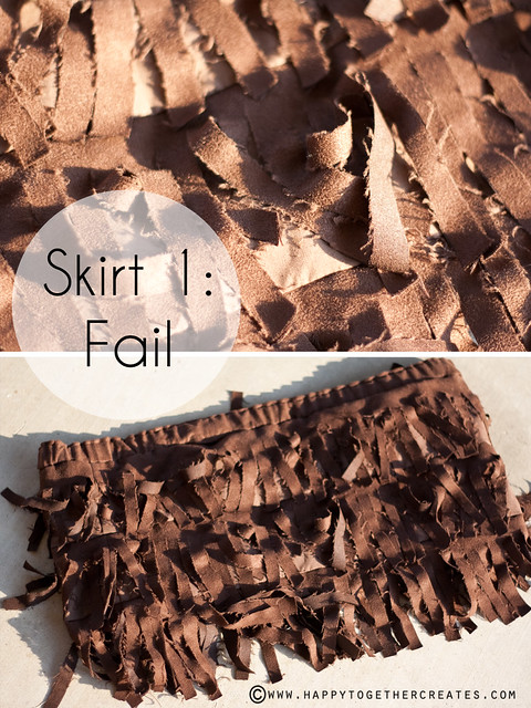 Suede Fringe Skirt DIY