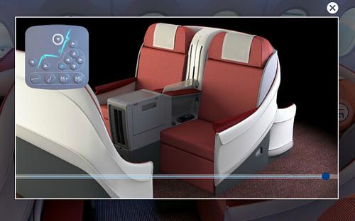 LAN 787 Seat Controls