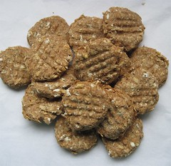 Peanut Butter & Oats Handmade Dog Treats -- 1/2 lb