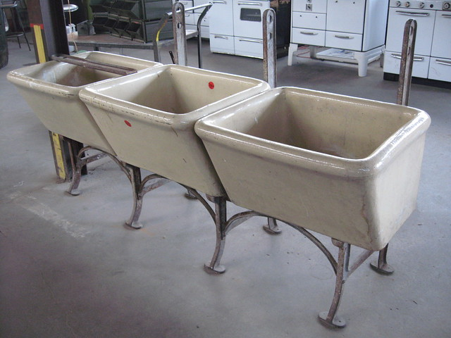 Concrete Laundry Sink Base : Vintage, Glazed Cast-Concrete Utility Sinks Flickr - Photo Sharing!