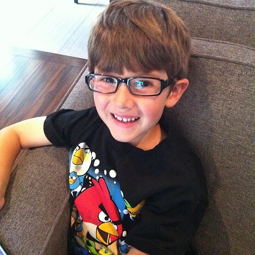 My little glasses boy. I think they are adorable!