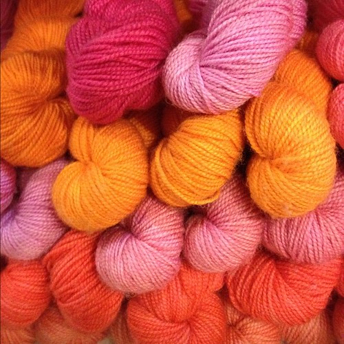 Pinks and Oranges at Rosie's. Want!!!