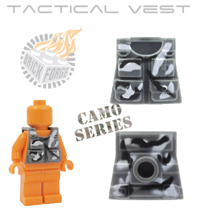 Tactical Vest - Dark Blueish Gray (camouflage)