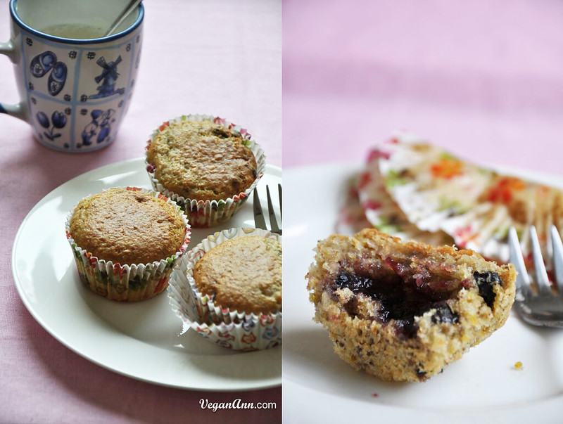 Blueberry Muffin with Berry Jam in the middle mix
