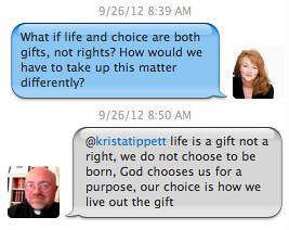 Twitter Exchange Between Fr. Hines and Krista Tippett