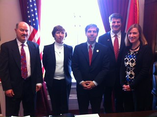 Representative Fleischmann (3rd District) with TPT delegation in 2012