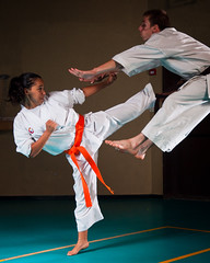 [Free Images] Sports, Martial Arts, Karate, Kick, People - Two Persons ID:201210051200