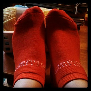 Cold feet on this rainy day, so I'm rocking the #orange #apartmentfinder freebie #socks! Great #swag at the RHA show yesterday. #comfy #cozy