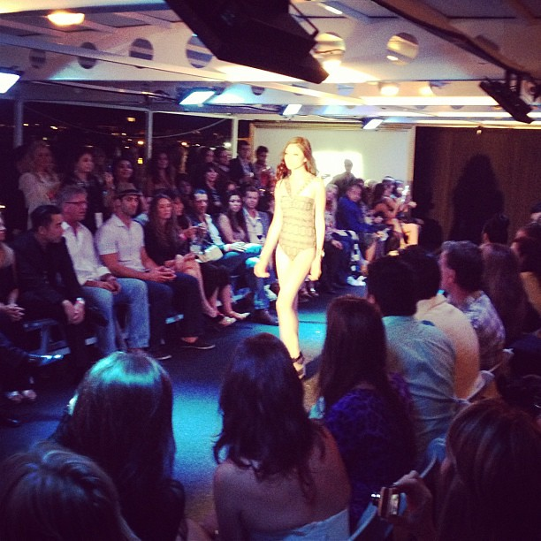#sailinstyle #fashionshow on a yacht! @thelafashion @fdg_events