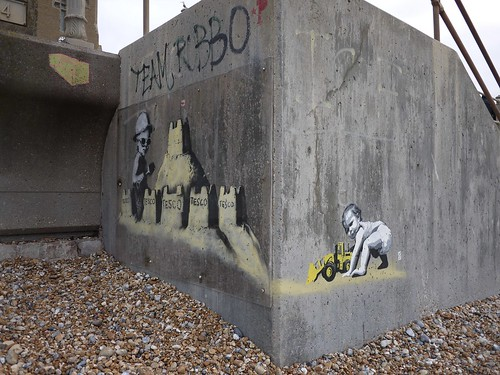 @ds__art adds to Banksy in Hastings 1 of 2 by HastingsPeetArt