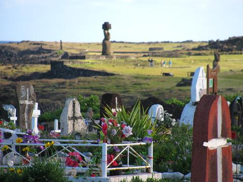Cementerio de Hanga Roa y Ahu Ko Te Riku