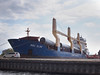 BBC Elbe at Mart Dock, wind turbine delivery