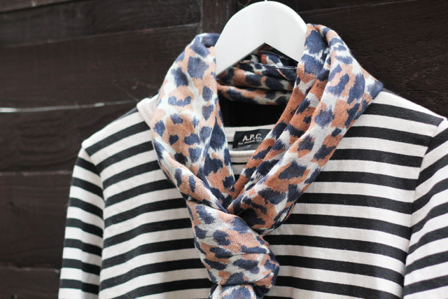 How to wear John Lewis Somerset by Alice Temperley neutral leopard animal print scarf