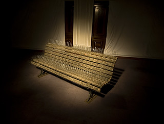 Spiked Bench in a spotlight