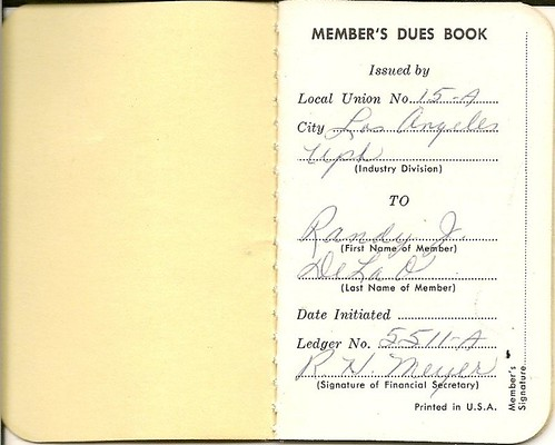 U.I.U. Union Payment book
