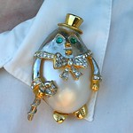 Kenneth Jay Lane formal penguin pin from estate sale in Rockville Centre