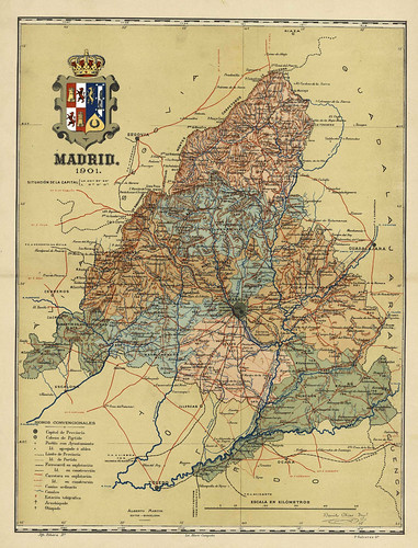 011-Provincia de Madrid-Atlas geográfico ibero-americano. España (1903)