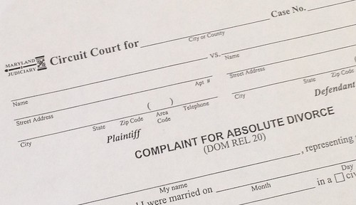 Complaint For Absolute Divorce Frederick Md
