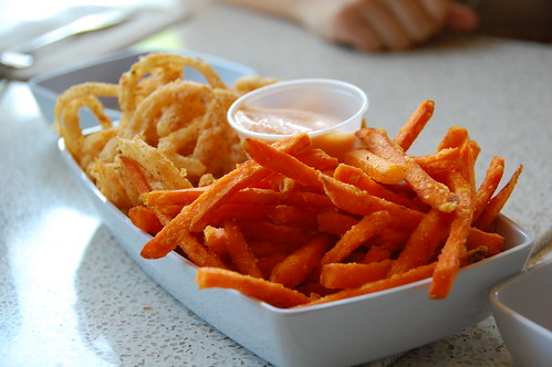 Sweet Potato Fries and Onion Rings