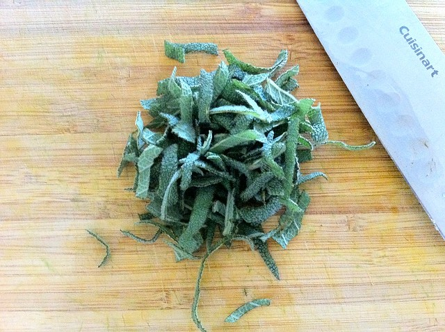 Sage Leaves Thinly Sliced