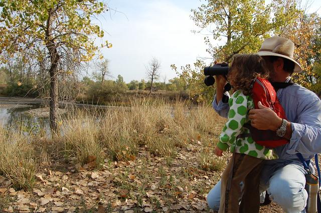Binoculars - Walking at Sawhill Ponds - Boulder, CO