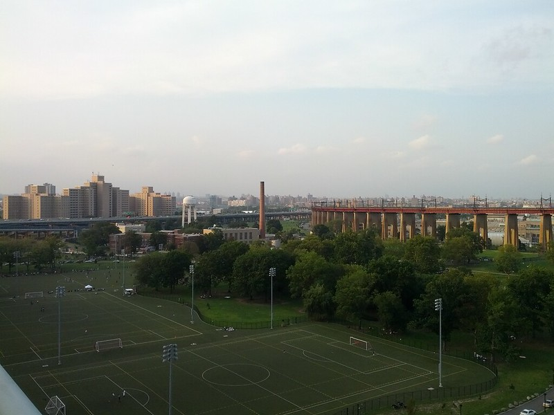 View back to Wards Island from RFK Bridge to Queens