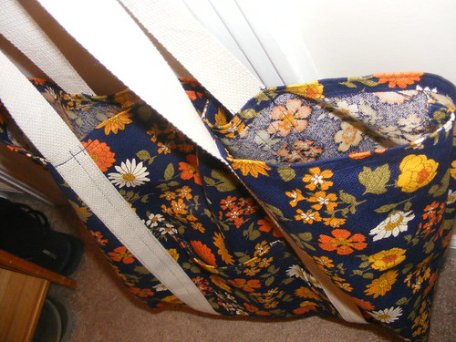 first completed sewing project. a Market tote bag.