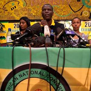 ANC Youth League Deputy President Ronald Lamola gave details of the then upcoming leadership elections for the organization. Several decisions were made at the party congress at Mangaung on the future of the Youth League. by Pan-African News Wire File Photos