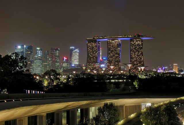 Marina Bay Sands from Marina Barrage Rooftop by CC user erwin_soo on Flickr