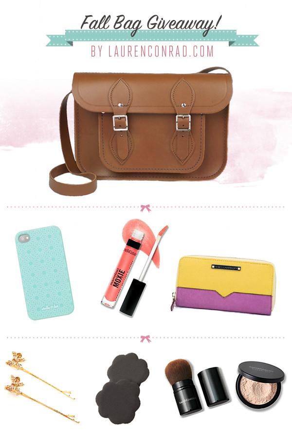 Giveaway: Win Lauren's Fall Bag!