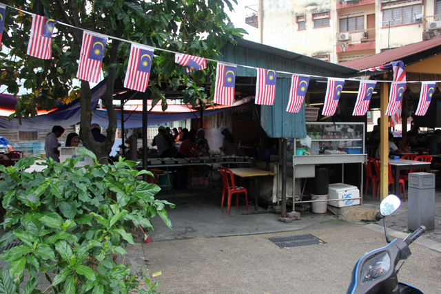 Nasi Campur in Kampung Baru, Kuala Lumpur, Malaysia