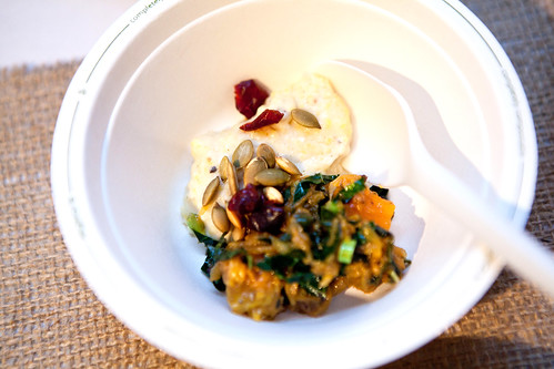 Untitiled at The Whitney: Spice roasted cheese pumpkin, kale, and buttermilk polenta