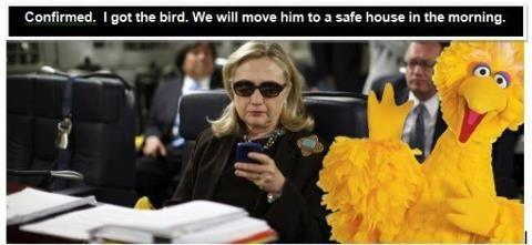 Big Bird is safe.