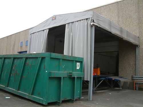 Tunnel a copertura del deposito rifiuti