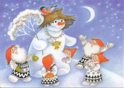 Snowman & Gnomes