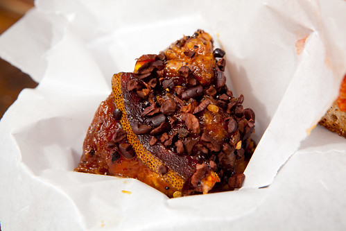 Chai sticky bun with orange zest