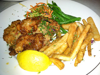 Macadamia Grouper and Coconut Shrimp, Sharky's on the Pier, Venice, Fl, Restaurant Review