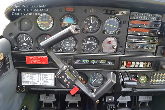 Piper Warrior instrument panel