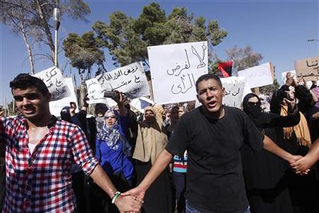 Residents of Bani Walid demonstrate against the US-backed siege of the western region of the North African state of Libya. Despite a NATO war the country is still unstable. by Pan-African News Wire File Photos