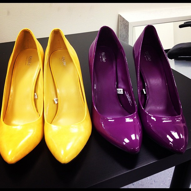 Which color? Or both? @TargetStyle #pumps #colorblock