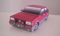 1989 Volkswagen Golf GTI Paper Car Free Vehicle Paper Model Download