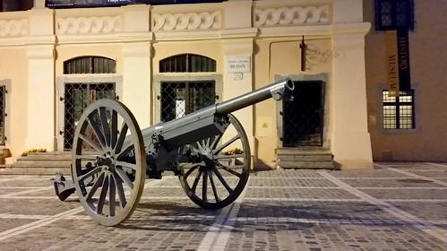 old canon preserved brasov romania armour gun romanian