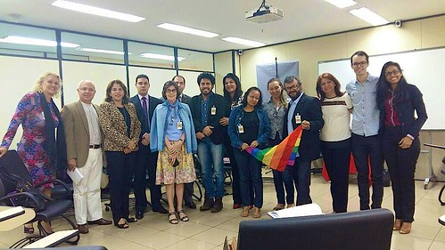 Margaret Hosty SSL (fifth from left) and Associate Suely (sixth from right) at a Human Rights meeting for LGBT