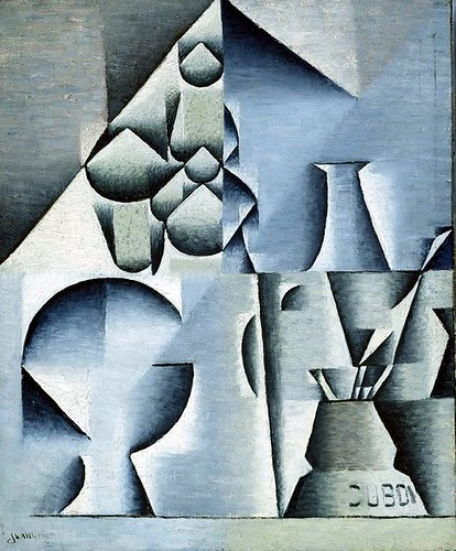 Gris, Juan (1887-1927) - 1912 Table at a Cafe (Art Institute of Chicago, USA)