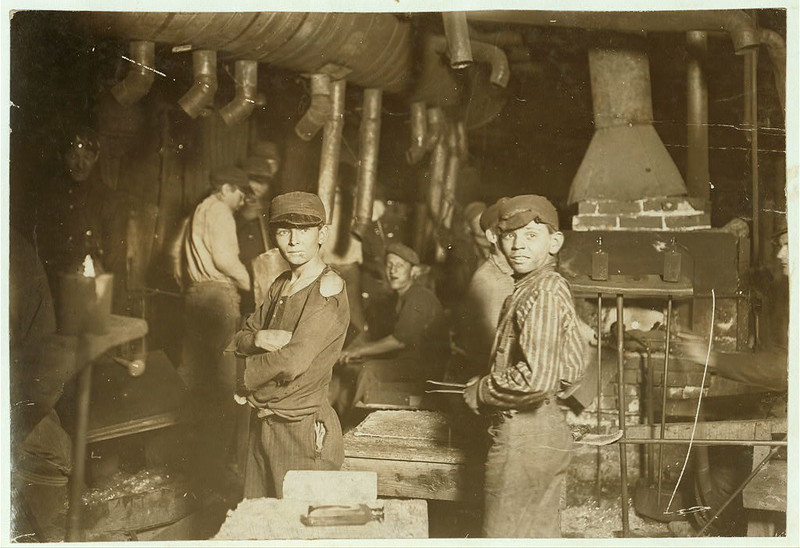 Glass works. Midnight. Location: Indiana. (LOC)