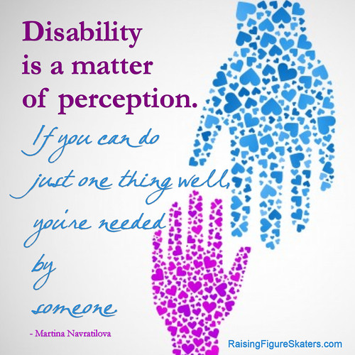 """Disability Is a Matter of Perception"" Word Art Freebie"